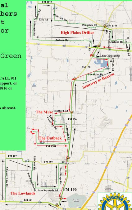 Cross Timbers Classic route map