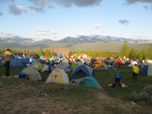 The campsite at Lake County High School, Leadville.